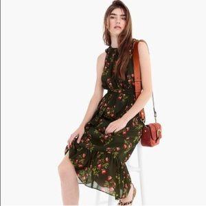 J. Crew Point Sur High-Neck Ruffle Floral Dress